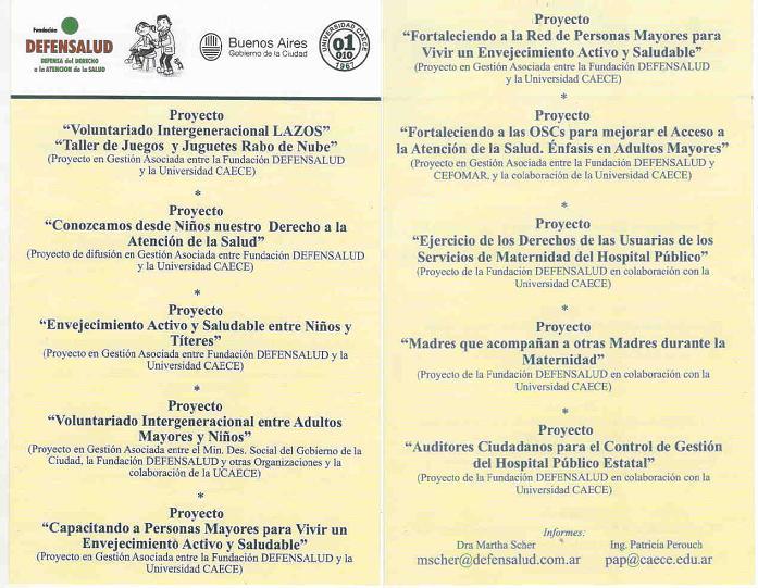 folleto proyectos