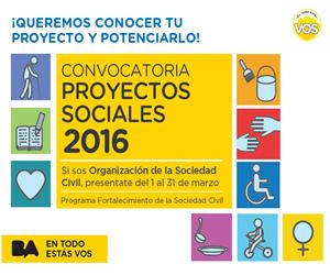 Convocatoria de proyectos sociales 2016