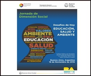 """Jornada """"Desafíos de Hoy.  Educación, Salud y Ambiente"""""""