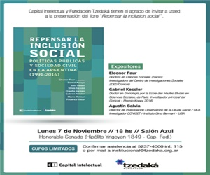 """Presentación del libro """"Repensar la Inclusión Social"""""""