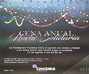 Cena Anual Fundación Tzedaká